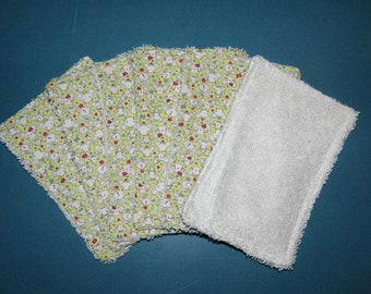 Wipes, wash cloths, set of 6