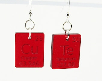 Science Lab Jewelry - Periodic Table Earrings - Cute Gift for Scientist, Science Geek
