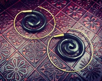 Spiral Ebony-Ebony Spiral Earrings earrings