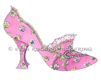 Marie Antoinette Rococo Shoe 5x7 art print