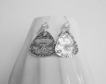 Hibiscus Earrings - Fine Silver