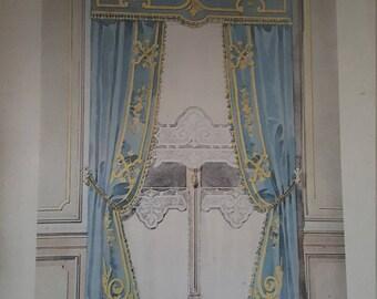 SALE Vintage Parisian Window Curtain Apartment Print