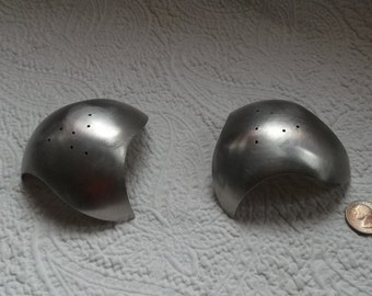 Whimsical  Designer Bruce McDonald (BRM) Brushed Stainless Steel Biomorphic Salt and Pepper Shakers