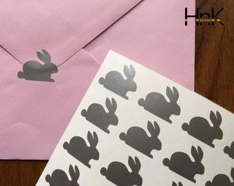 30x bunny stickers / envelope decals / party decoration / glass decor  envelope seals  s012