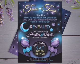 Digital Personalized Baby Shower Invitation, Gender Reveal