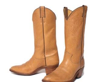 8 D | Men's Justin Blonde Leather Western Boots