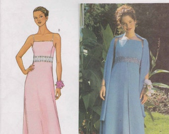 Formal Dress Pattern Prom Dress Evening Gown Pattern Long Dress  Size 14 - 18  Butterick 3369