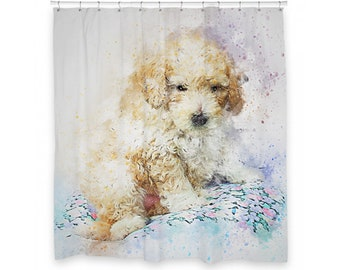 "Dog Shower Curtain 72"" x 66"""
