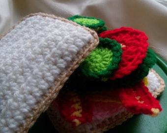 Pretend Food Crochet Sandwich