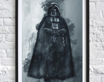 Star Wars - Darth Vader 'Watercolor' A4 Print