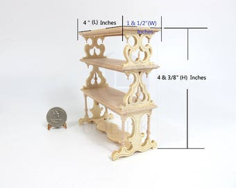 Miniature 1:12 Scale Doll House Victorian Barker's Rack[Unfinished ]