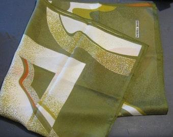 Norma Dori Vintage Green Orange White Scarf