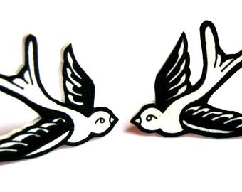 Swallow earrings by Dolly Cool