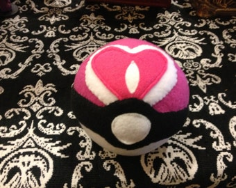 Pokemon inspired plush Love ball
