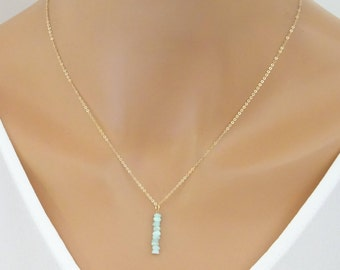 Opal necklace, Genuine Opal pendant, October Birthstone  necklace, Real opal jewellery, Gold opal necklace