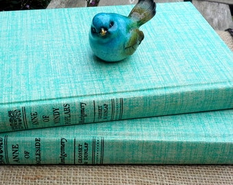 Anne of Green Gables Books, Lucy Maud Montgomery, 2 early hardcovers , Anne of Windy Poplars, Anne of the Ingleside