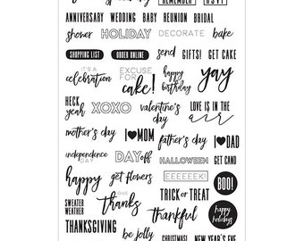 Prima - My Prima Planner - Clear Stamps 4inX6.5in - Frank Garcia Celebrations