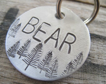 Hand Stamped Pet ID Tag - Personalized Pet/Dog Tag - Dog Collar Tag - Engraved Dog Tag - Handsatmped Pet Tag - Aluminum Dog Tag
