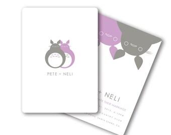 DIGITAL, Printable, DIY Totoro Inspired Anime Wedding or Bridal Shower