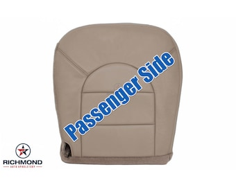 1999 Ford F-250 F-350 Lariat Leather Seat Cover: Passenger Bottom Tan