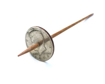 Modern Coin Tahkli Support Spindle Kennedy Half Supported Spinning of Handspun Lace Yarn or Thread - like Russian or Tibetan or Takhli