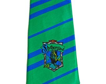 Slytherclaw Cross-House Crest Necktie