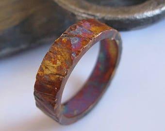 SALE Size 10.5 Mens Wedding Band Mens Wedding Ring Viking Wedding Ring Silver Ring Oxidized Ring OOAK Unique Wedding Band Rustic Man Weddi