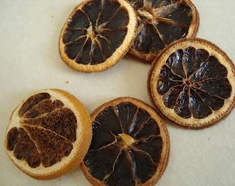 Set of 5 decorative dried orange slices