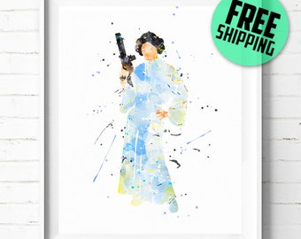 Star Wars Princess Leia print, Princess Leia Organa print, Star Wars print,  Princess Leia poster, Star Wars wall art, [347] home decor