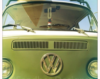 4 x 4 photo card-Surf's up VW bus
