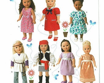 """Simplicity Sewing Pattern 1344 18"""" Doll Clothes"""