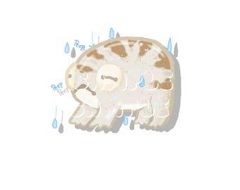 Desert Rain Frog Glossy Sticker