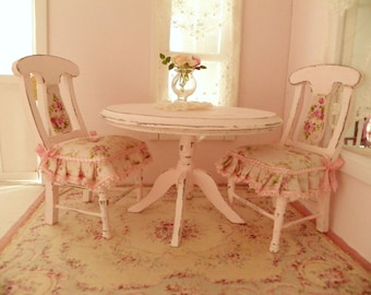 dollhouse dinning room table and chairs - 1/12 dolls house dollhouse miniature