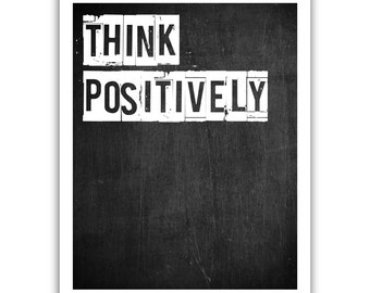 Typographic Print - TITLE think positively