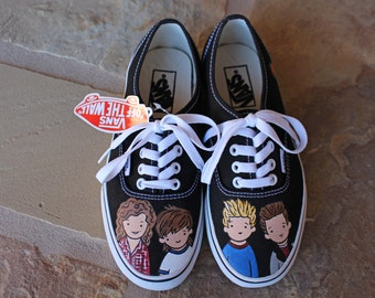 Hand Painted Shoes - One Direction 1D