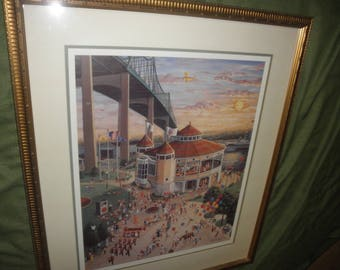 "Carl Doerflinger Print ""Good Times"" Fall River Carousel at Battleship Cove"