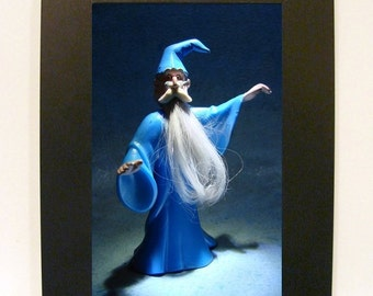 "Framed Merlin Toy Photograph 5"" x 7"" Sword in the Stone"
