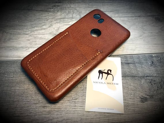 NEW Google Pixel 2 XL and Pixel XL rev. 1 Italian Leather Case 2 card slot vertical  to use as protection Choose the Device and Color