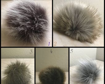 Handmade Faux Fur Pompoms