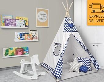 Tipi Set - Kids Play Tent Teepee -   Starry Night