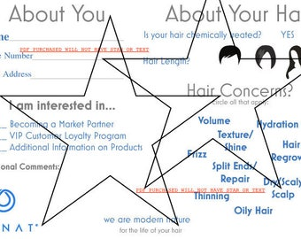 DIGITAL Monat Event Questionnaire - Information form - hair type, style, partner request, etc