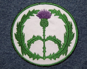 """Royal Thistle Peace Sign Iron on Patch 4"""" x 3.75"""""""