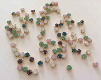 100 5 mm approximately in several color Crystal rhinestones