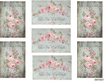VinTaGe FReNcH FLoRaL LaBeLs ShaBbY DeCALs