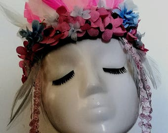 Festival Head Wear Unqiue One of a Kind Made to Order Head Dresses Headbands Any Colours Wild Child Fun Times Bonkers Happy Heads Photoprops