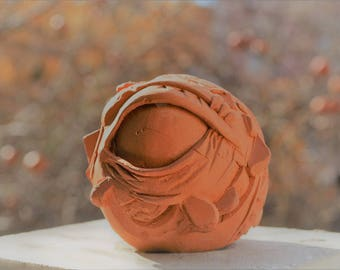 Art deco Eye sculpture- original-clay -home decoration