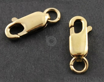 Gold Filled 3.85X10.2 mm Lobster Claw with Open Jump Ring, 1 Piece, Sold INDIVIDUALLY, Just buy as many you need,(GF/466)