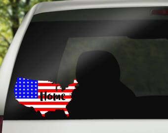 United States Decal,Flag Decal, Car Decal, United States Flag, 4th Of July Decal,  USA Car Decal, Fourth Of July Decal, July 4th Decal
