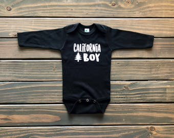 Baby boy bodysuit, trendy baby boy clothes, fall baby clothes, California bodysuit, baby shower gift, new baby, new mom gift, cool baby