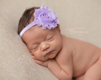 LAVENDER BABY Headband, Lavender Glitter headband, Baby Photo Prop, Baby Headband, Newborn Photo Prop, Newborn Headband, Birthday Headband